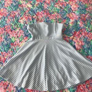 NWT Anthropologie Hutch Blue White A-Line Dress MP